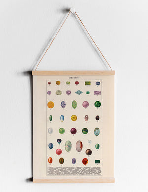 "Gemstones Illustration ""Schmucksteine"" - Kuriosis Vintage Prints"
