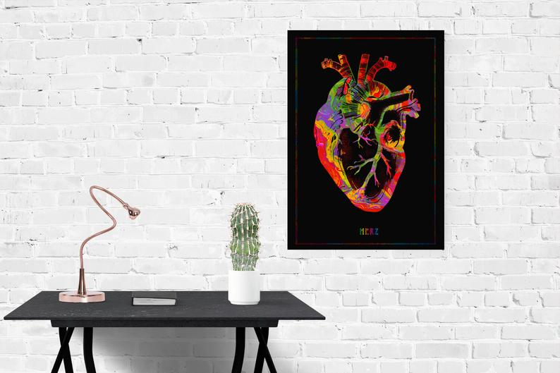 Anatomical Heart Colorful