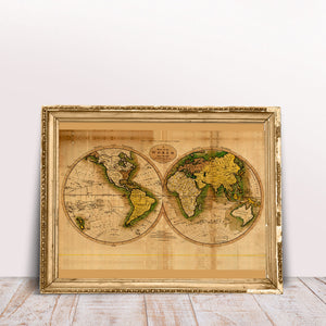 A Map of the World from the best Autorithies - Kuriosis Vintage Prints