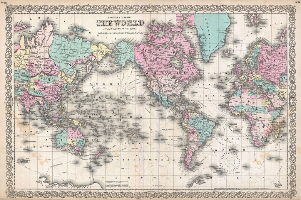 World Map Vintage