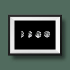 Moon Phases Poster - Kuriosis Vintage Prints