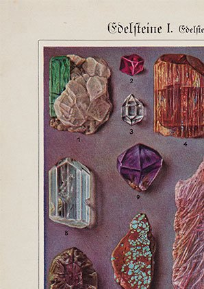 Mineral and Crystal Stones Old Illustration - Kuriosis Vintage Prints