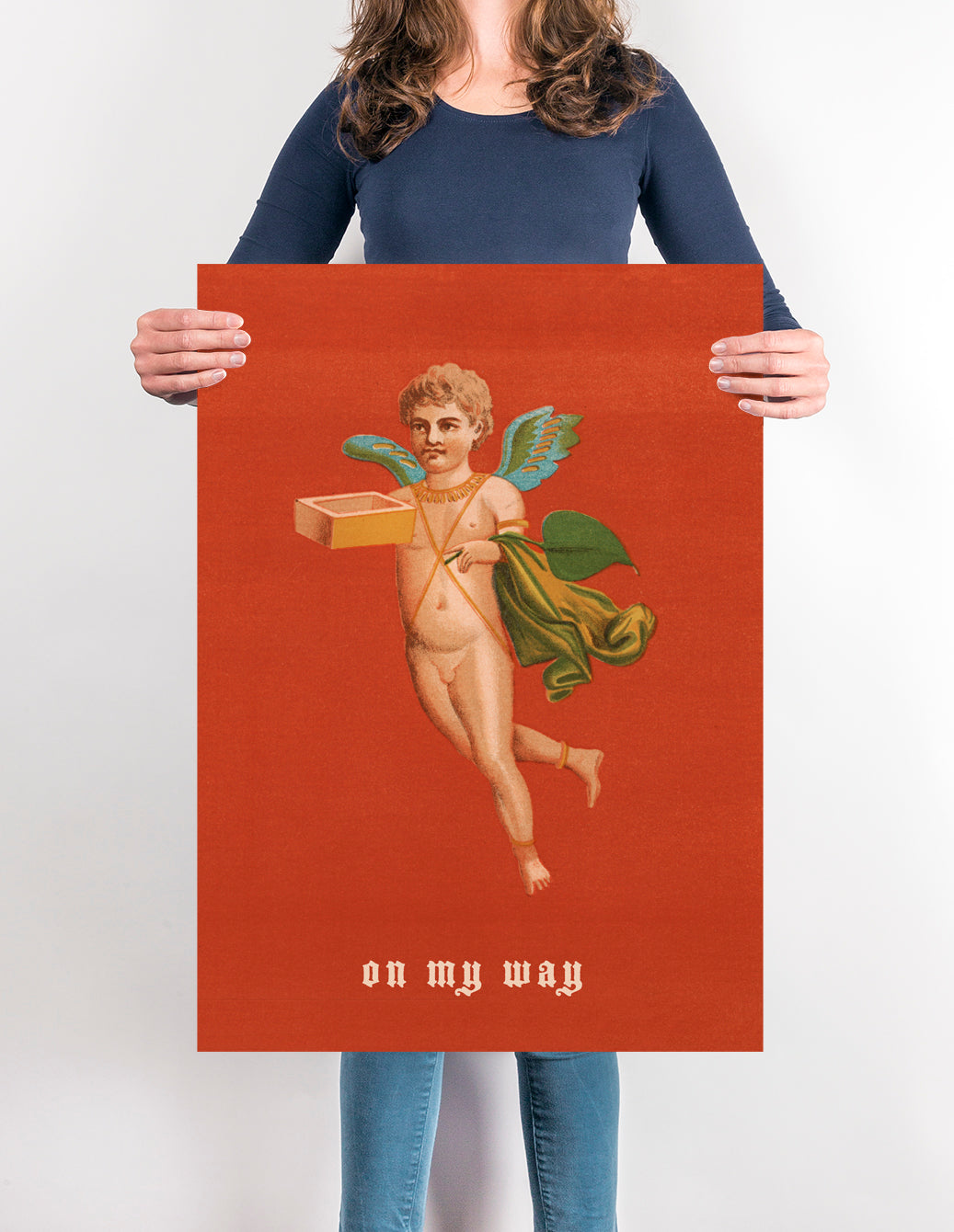 Vintage Cupid Poster - Funny love poster for any room!