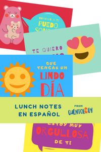 School Lunch Notes in Spanish