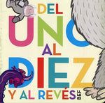 Board Books in Spanish for kids - DEL UNO AL DIEZ Y AL REVÉS