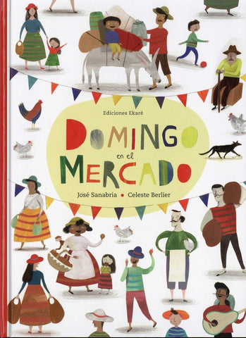 Picture Books in Spanish for kids - Domingo en el mercado