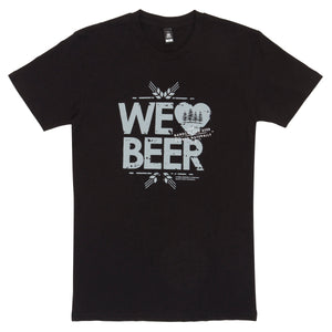 Black Tee with We Love Beer Print