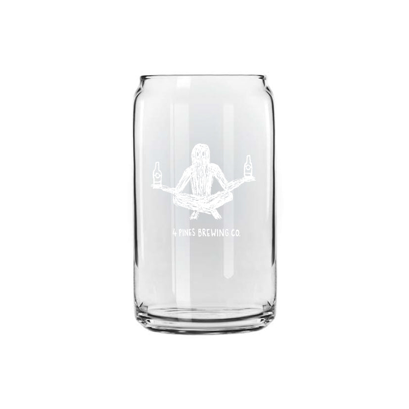 Tin Shaped Glass with Zen Yeti