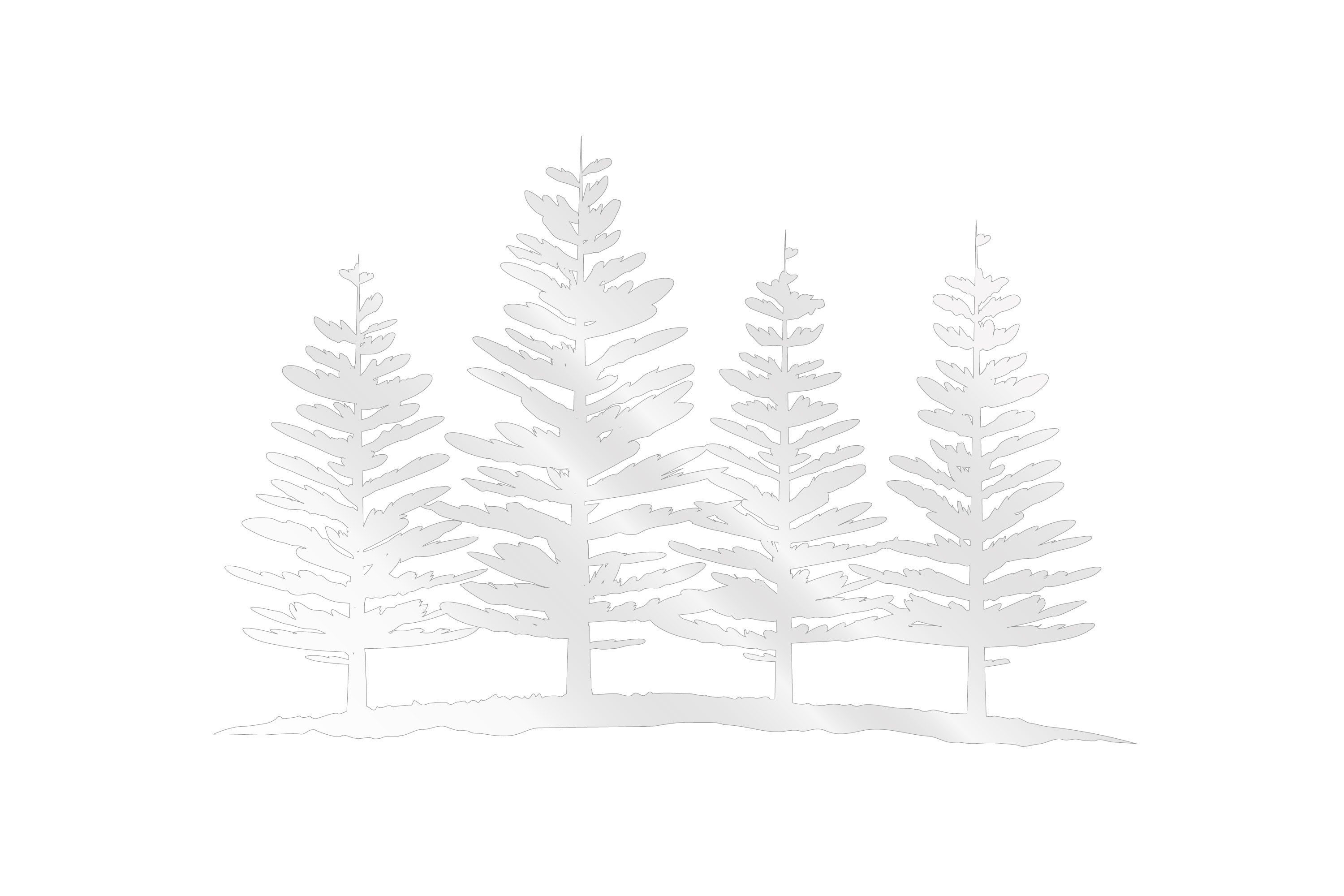 Deluxe Sticker - 4 Pines Trees