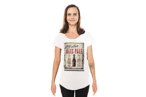 White Ladies Tee with All Other Ales Pale print