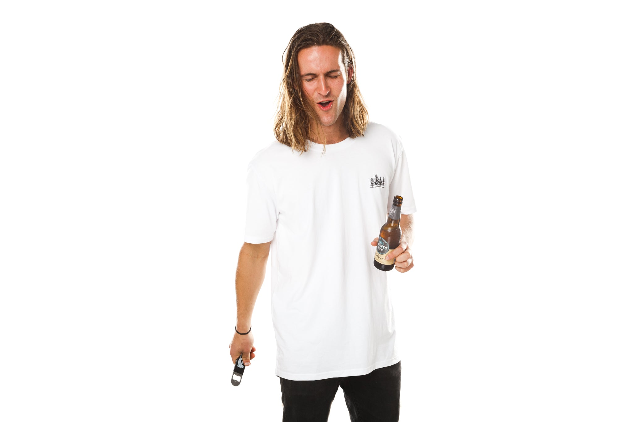 White Bottle Cap Tee