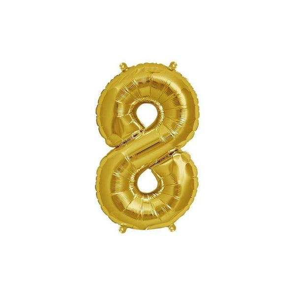 "16"" Foil Number 8 Balloon"