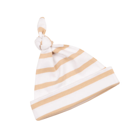 Biscuit & White Breton Striped Hat