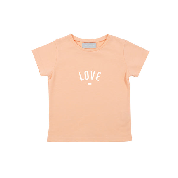 Peach 'LOVE' Cap-Sleeved T-Shirt