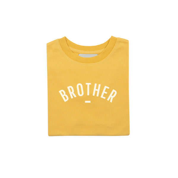 Custard Short-Sleeved 'BROTHER' T-shirt