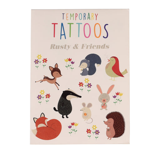 Rusty + Friends Temporary Tattoos
