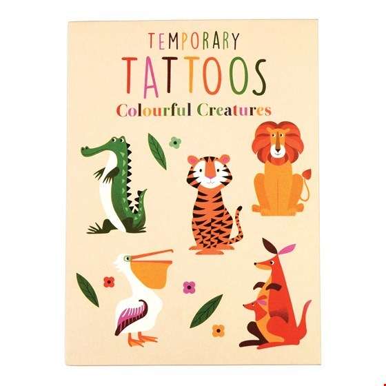 Colourful Creatures Temporary Tattoos