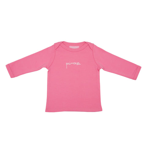 Bright Pink Princess Baby T Shirt