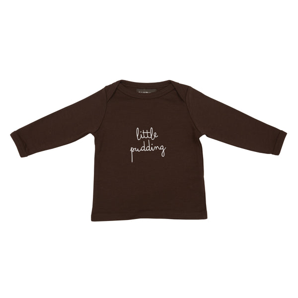 Brown Little Pudding Baby T Shirt