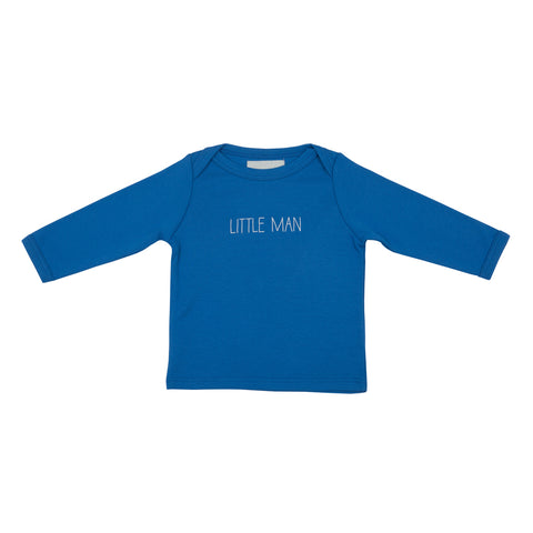 Ink Blue Little Man Baby T Shirt