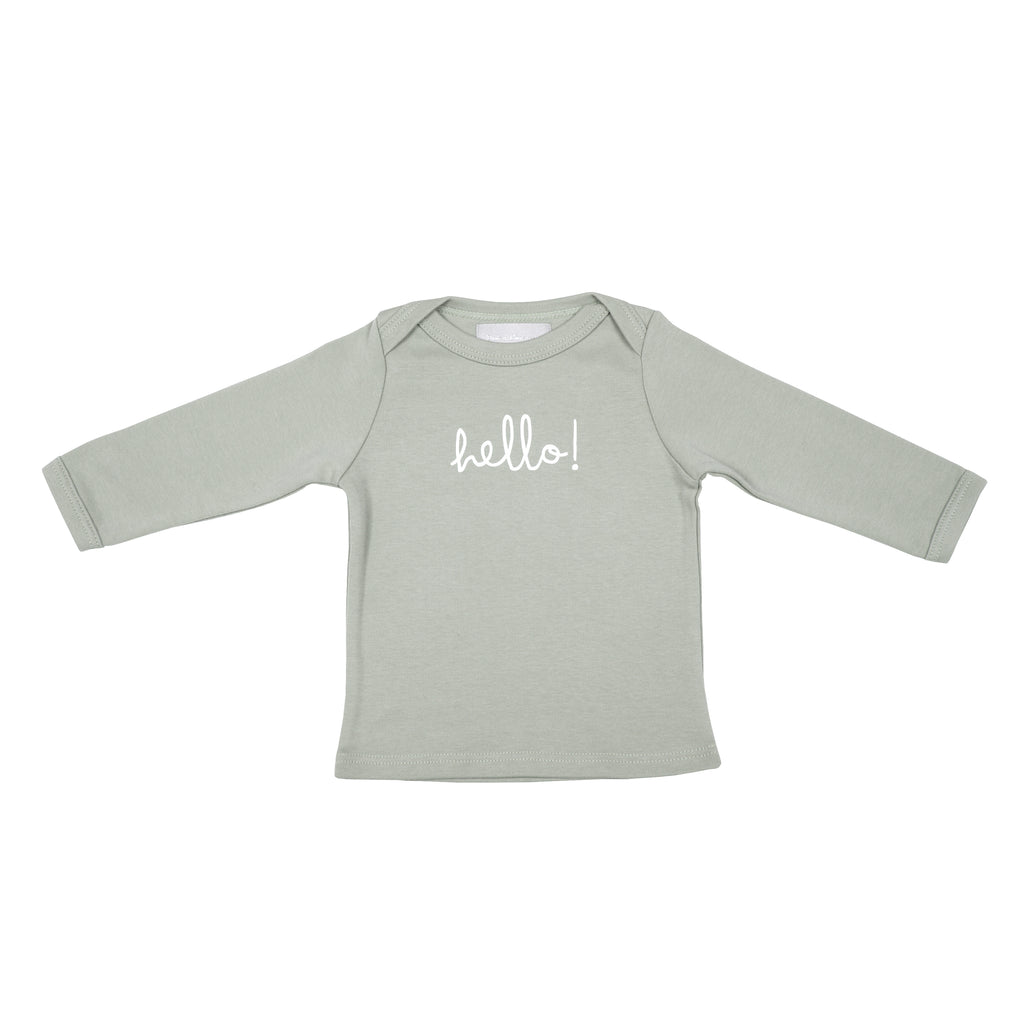Cloud Grey Hello Baby T Shirt