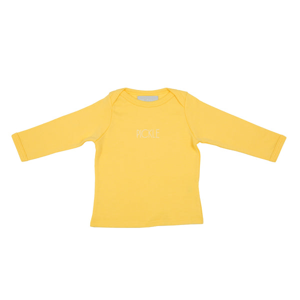 Sunshine Yellow Pickle Baby T Shirt
