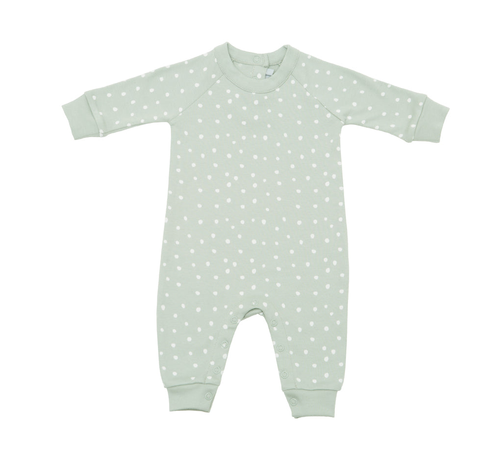 Moss Grey & White Spot Print All-In-One