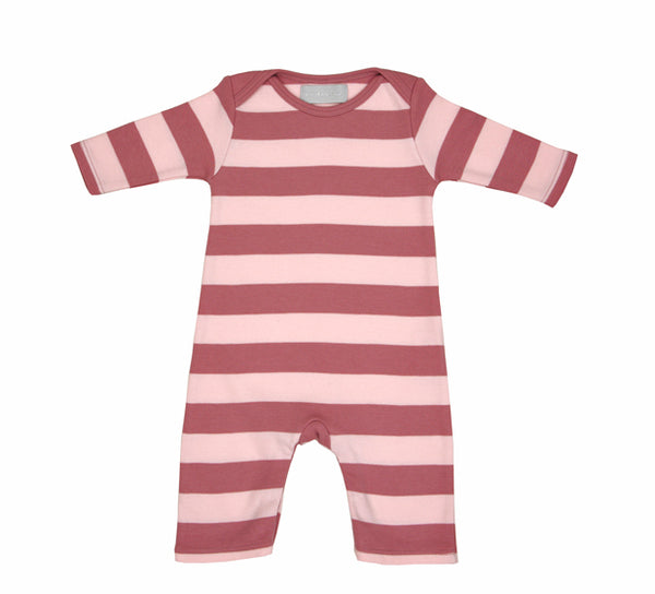Vintage & Powder Pink Striped All-in-One