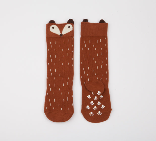 Brown Raccoon Socks
