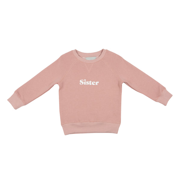 Faded Blush 'SISTER' Sweatshirt