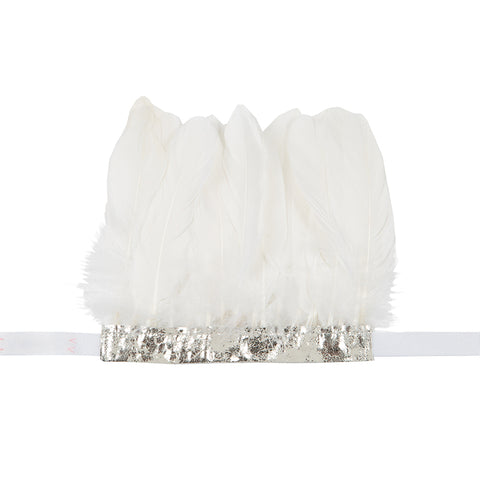 Handmade Feather Headdress - White
