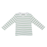 Seafoam & White Breton Striped T Shirt