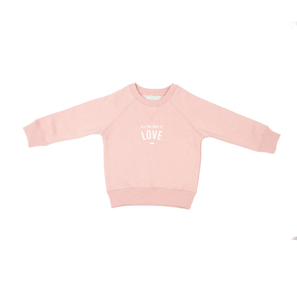 "Faded Blush ""ALL YOU NEED IS LOVE' Sweatshirt"