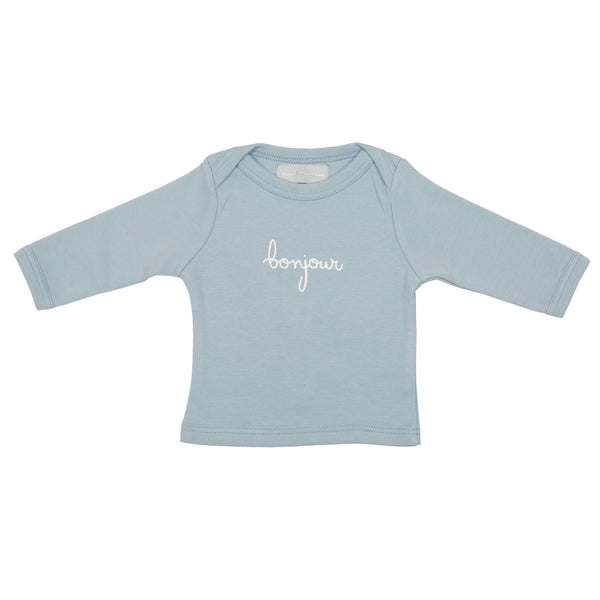 Pebble Grey Bonjour Baby T Shirts
