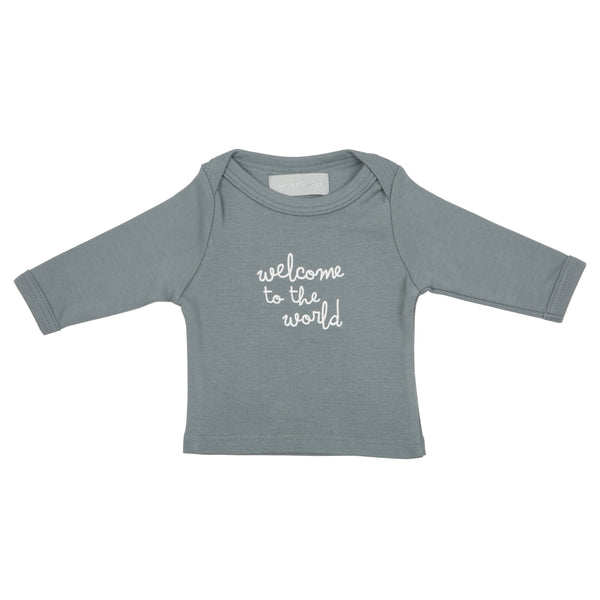 Slate Grey 'Welcome to the World!' Baby T Shirt