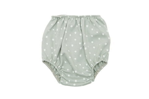Moss Grey and White Spot Print Bloomers