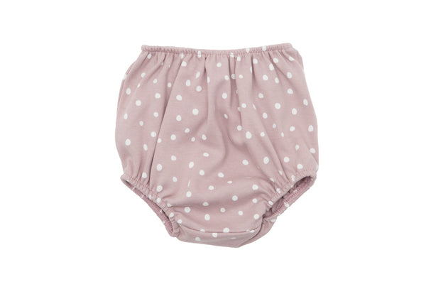 Old Rose and White Spot Print Bloomers