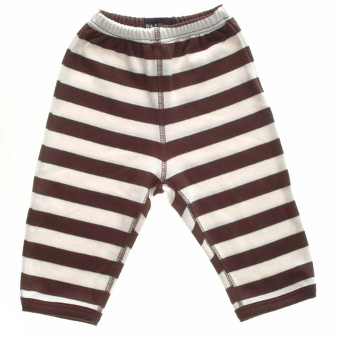 Brown & White Striped Trouser