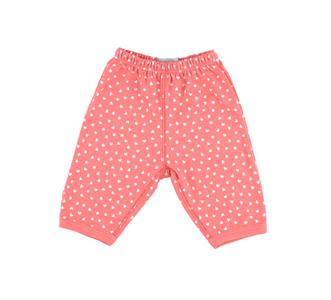 Flamingo Pink & White Little Hearts Trouser