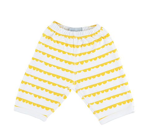 White & Sunshine Yellow Bunting Trouser