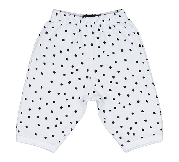 White and Black Spotted Trouser