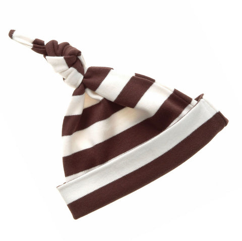 Brown & White Striped Hat