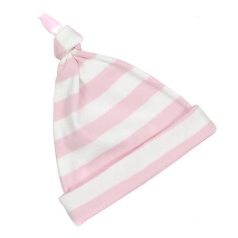 Pale Pink & White Striped Hat