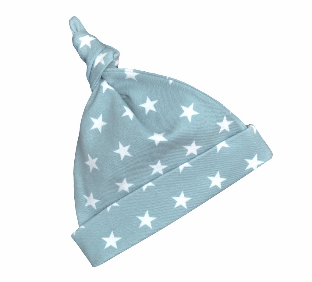 Misty Blue & White Star Hat