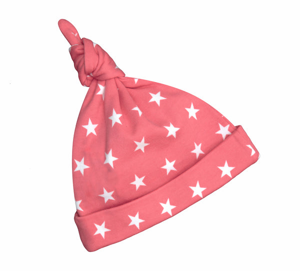 Flamingo Pink & White Star Hat