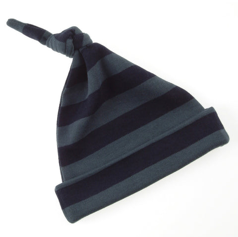 Vintage Blue & Navy Striped Hat