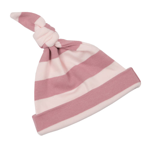 Vintage & Powder Pink Striped Hat