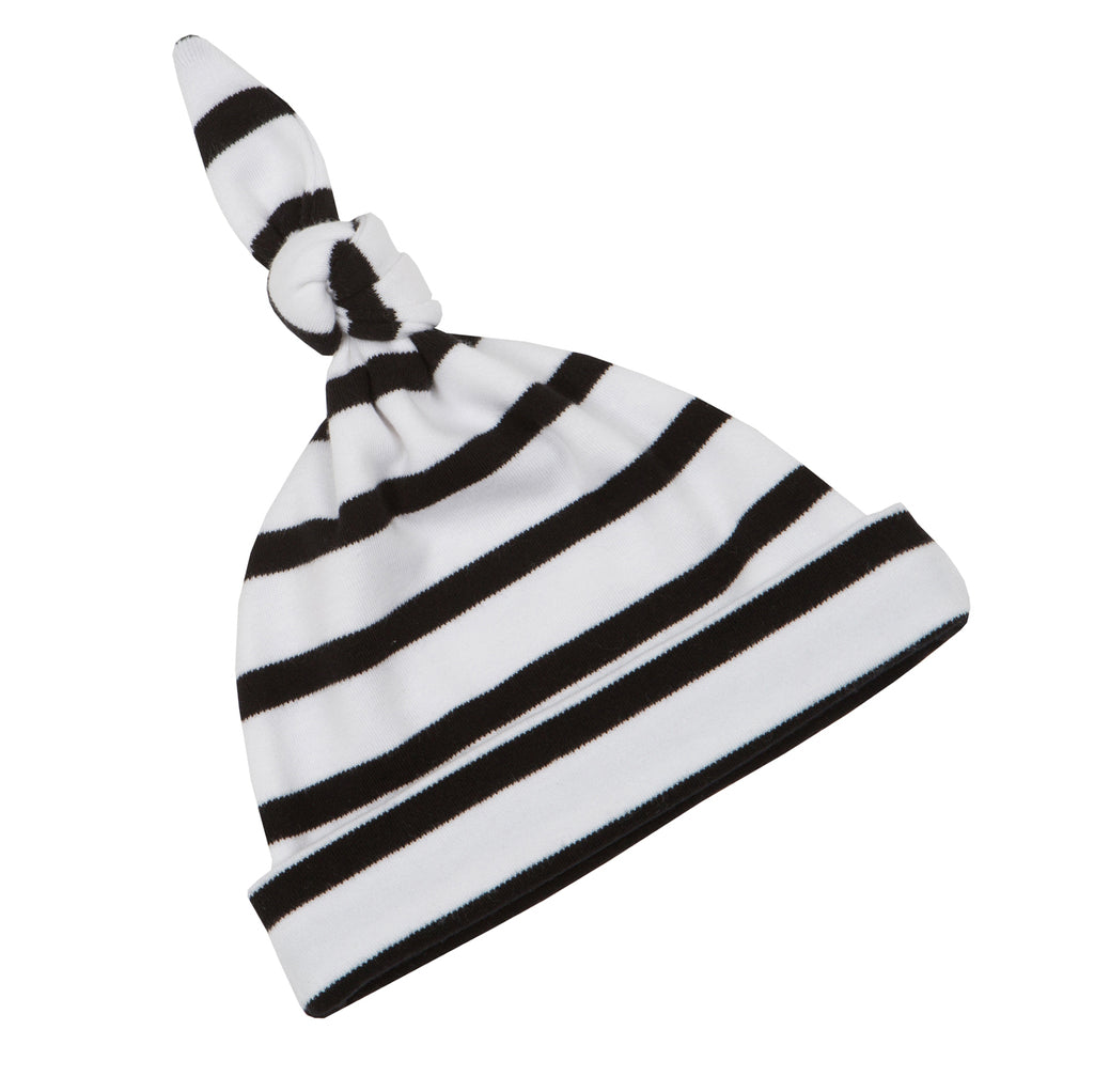White and Black Breton Striped Hat