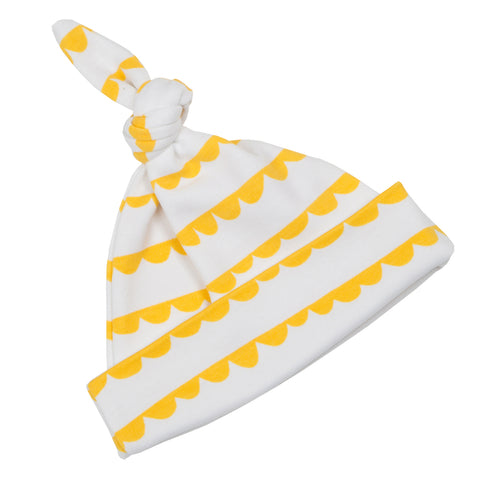 White & Sunshine Yellow Bunting Hat
