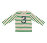 Gooseberry & Cream Breton Striped Number 3 T Shirt